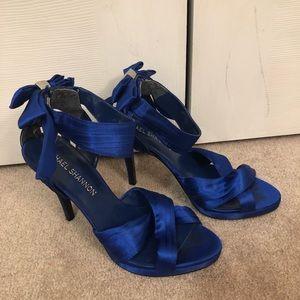 Michael Shannon Blue silk heels
